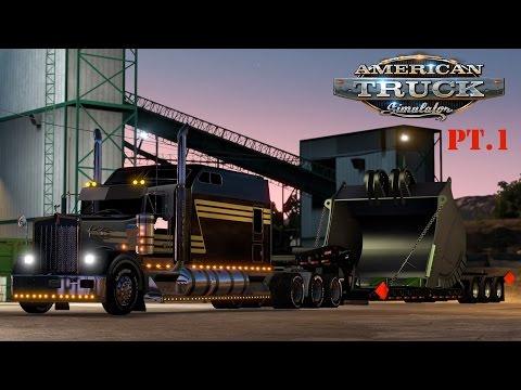 American Truck Simulator: W900 Super Cab - Ultra long with 3 axle Fontaine Magnitude - Pt.1