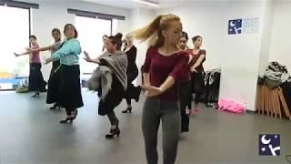 Carmelilla Montoya. Clase de Baile Flamenco por Tientos-Tangos en Fundación Cristina Heeren