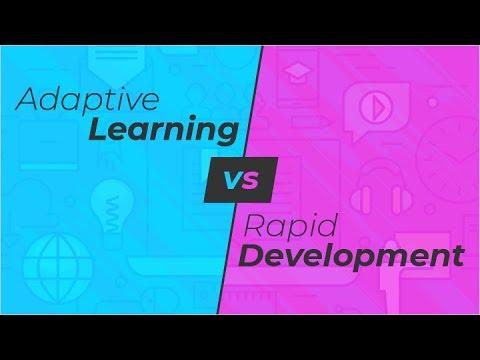 Webinar: Adaptive Learning Vs Rapid Development