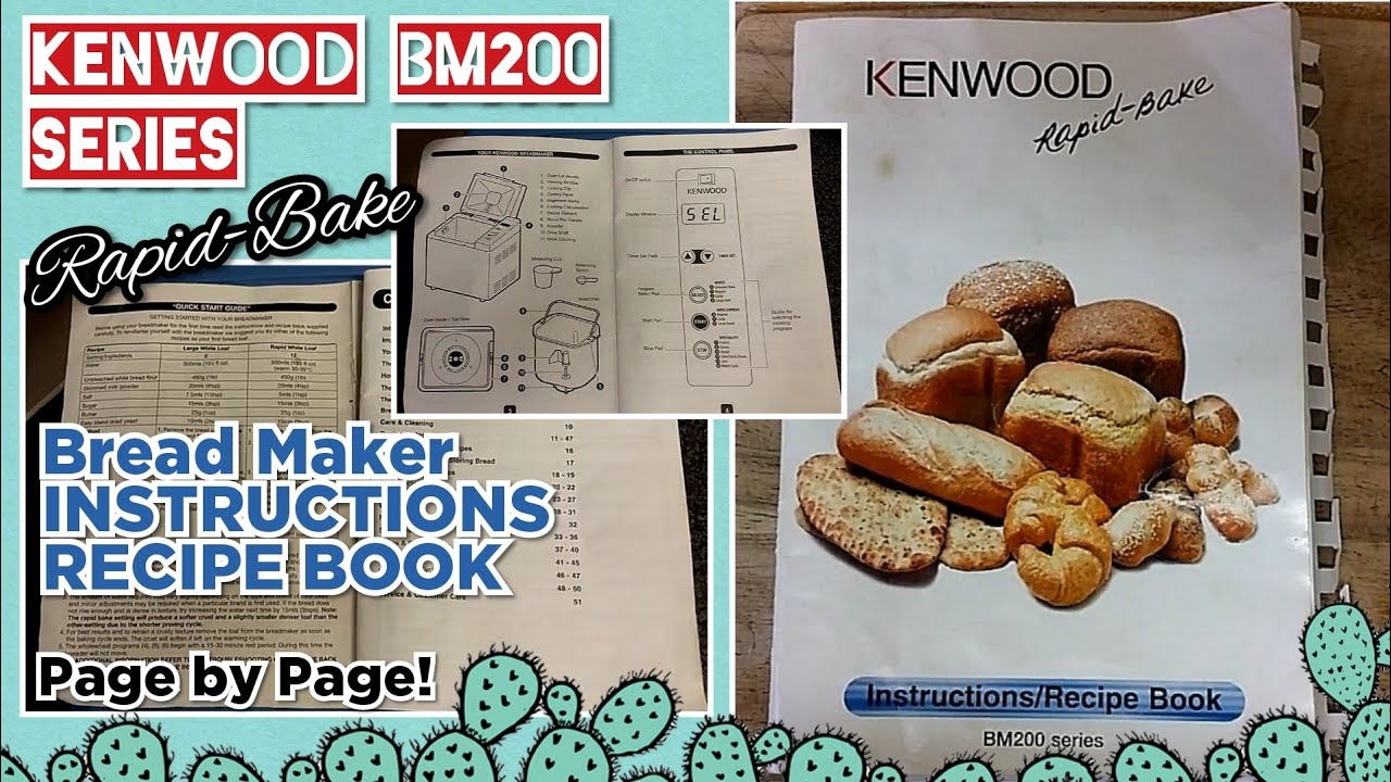 bread maker machine recipe book kenwood bm200 series youtube rh youtube com