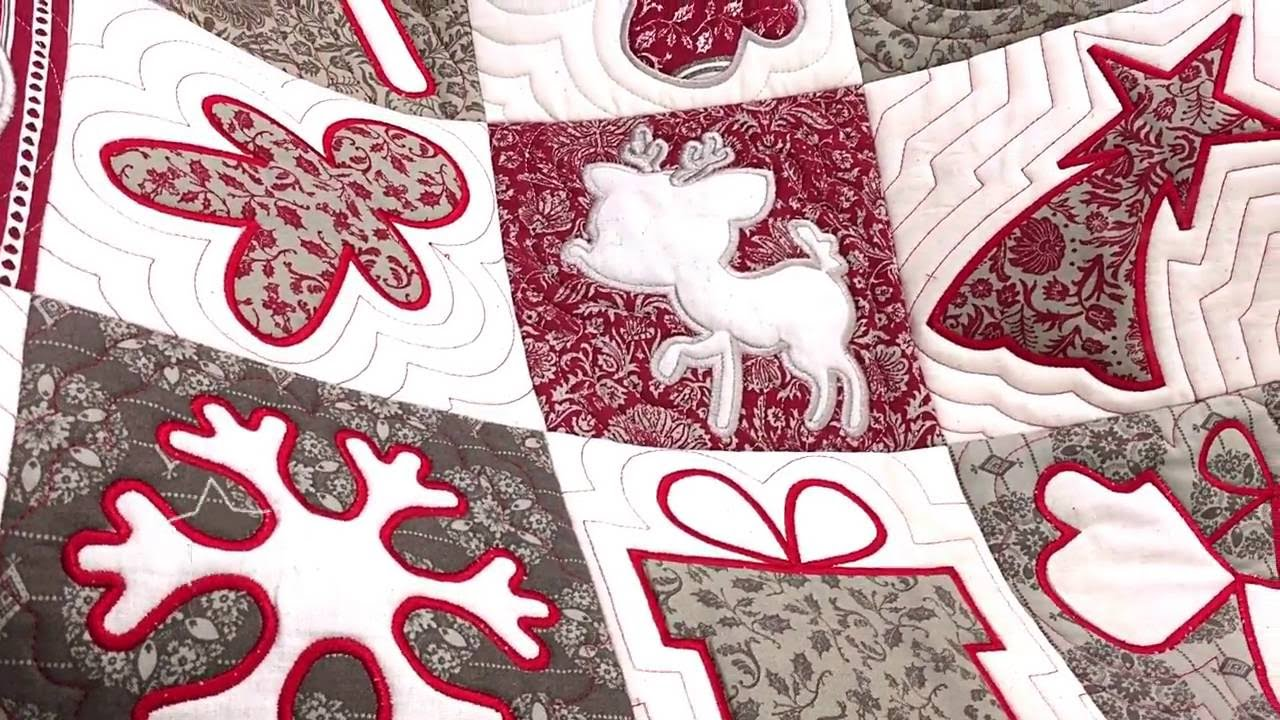 Christmas Cookie Cutter Quilt Machine Embroidery In The Hoop