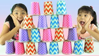 CUP CHALLENGE ♥ MINUTE TO WIN IT | Keira Charma Challenge