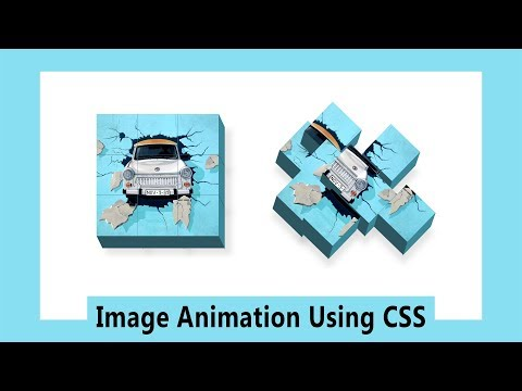 How To Make Image Animation On Website Using HTML And CSS | CSS Animation Tutorial