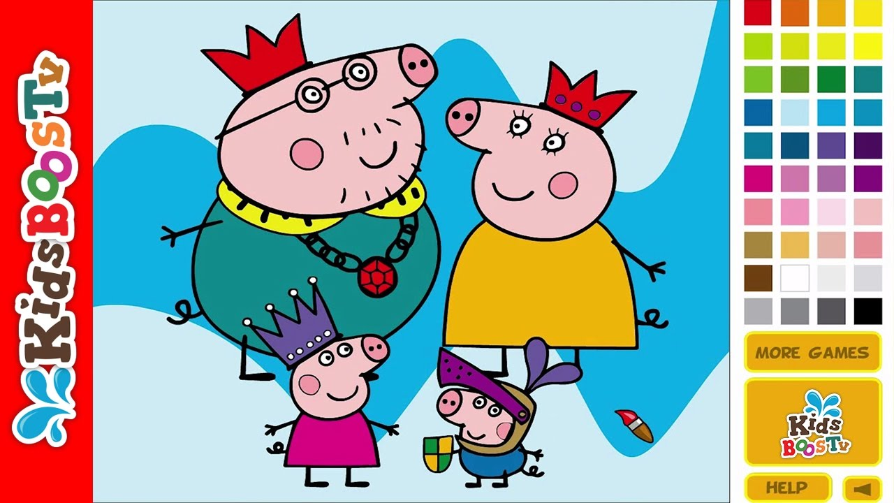 Peppa Pig Coloring Pages Online - Coloring Pages For Kids - YouTube