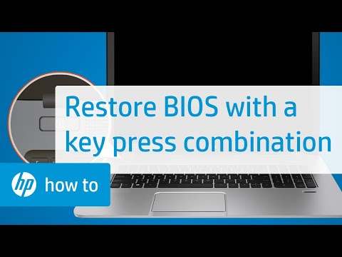 Restoring the BIOS on HP Computers with a Key Press Combination