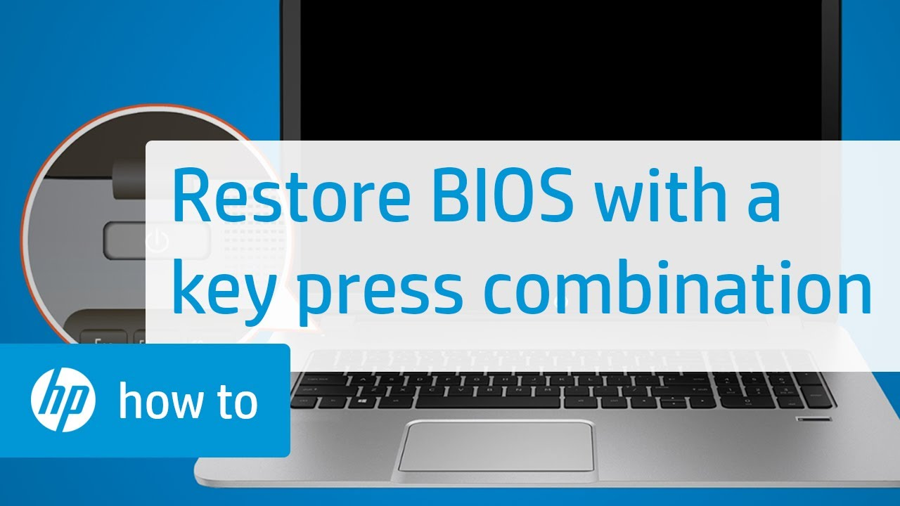 How to Restore the BIOS on HP Computers with a Key Press Combination | HP  Computers | HP