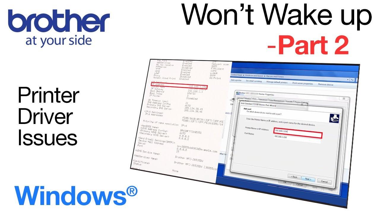 Fix Brother print failure – Windows® – part 2