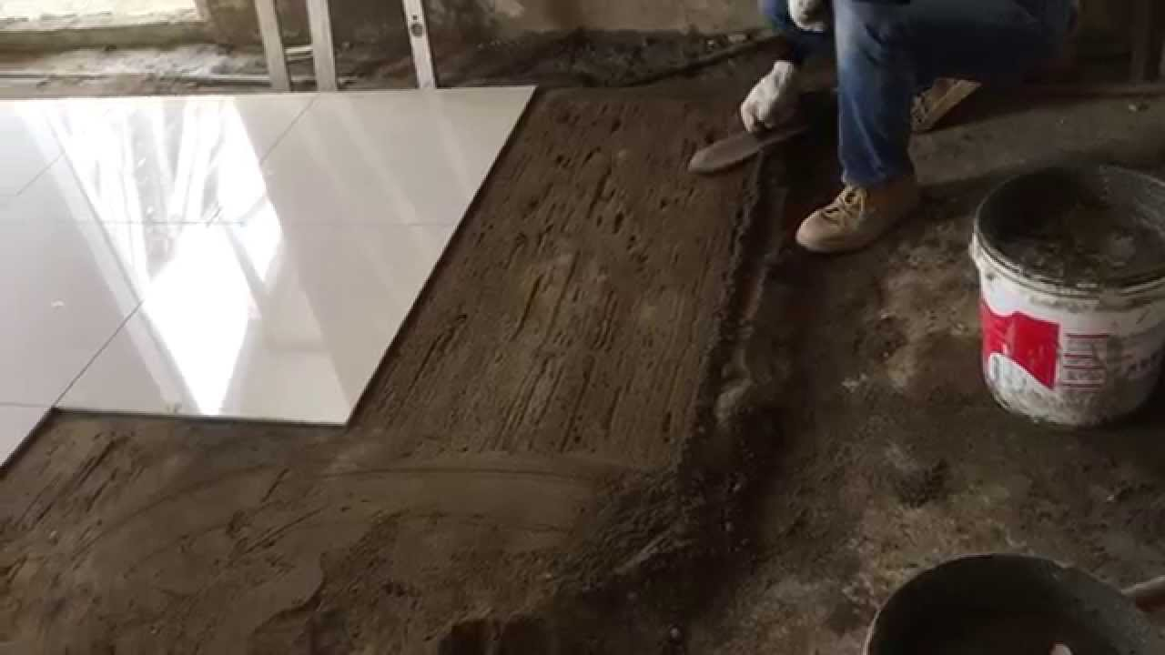 Floor tile installation process 60x60 cm polished tiles part 5 floor tile installation process 60x60 cm polished tiles part 5 youtube dailygadgetfo Image collections