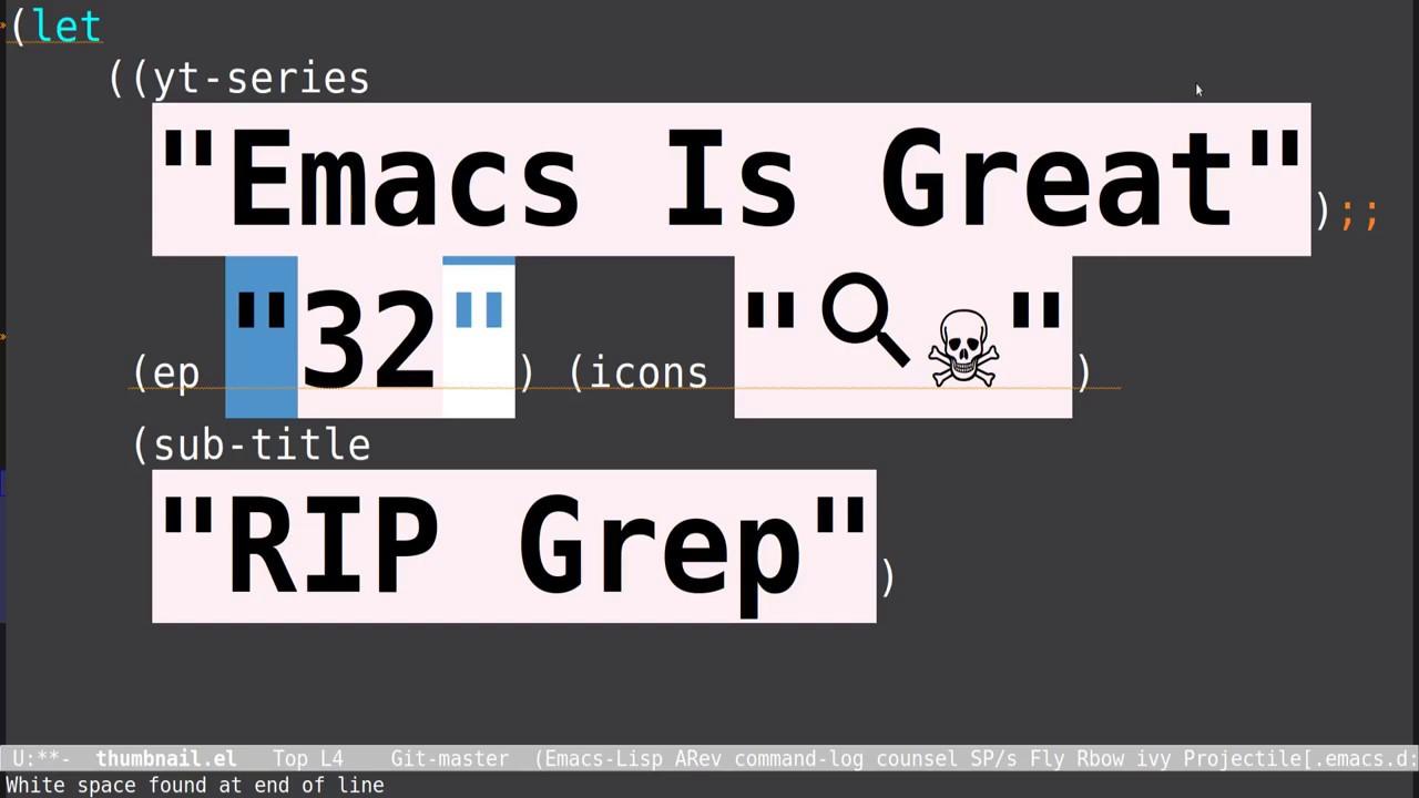 Emacs Rg