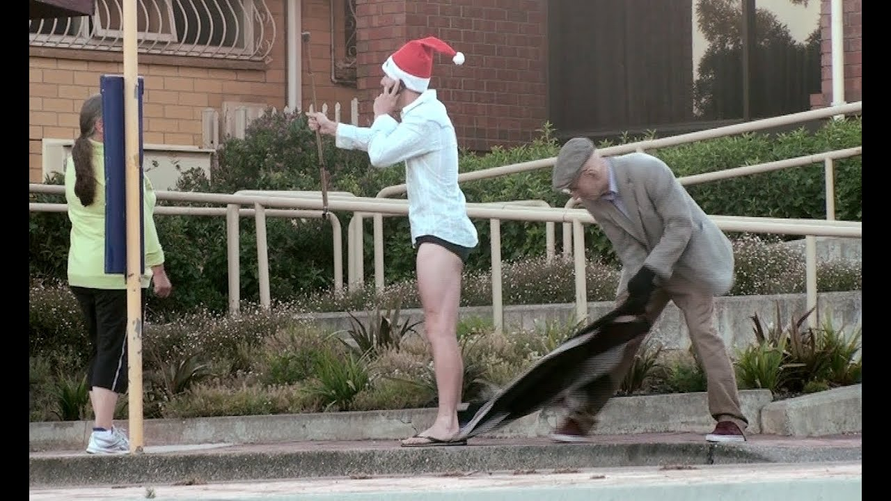 RIPPING OFF CLOTHES Prank Christmas - YouTube