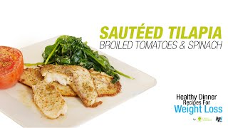 Sauteed Tilapia with Wilted Spinach