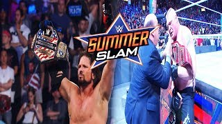 WWE SUMMERSLAM 2017 FULL SHOW RESULTS WWE SUMMERSLAM 2017 RESULTS
