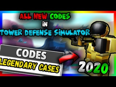 ALL NEW CODES in Tower Defense Simulator !? (2020) / Roblox