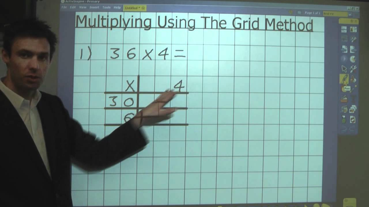 Grid Method (Multiplication) - YouTube