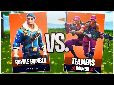 Why You Don't TEAM Vs. The Royale Bomber! - PS4 Pro Royale Bomber Skin Gameplay!