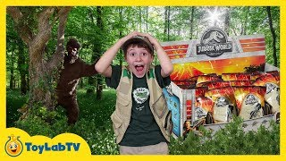 Dinosaur Surprise Toy Hunt & Adventure with Giant Prehistoric Bigfoot & Jurassic World Kids Toys thumbnail