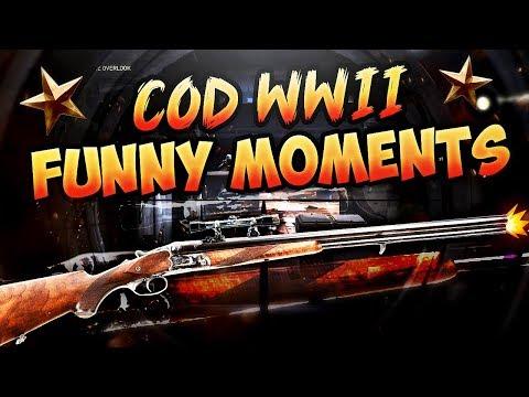 Call of Duty WW2 Funny Moments - Sniper Shotgun & Fun Killcams!