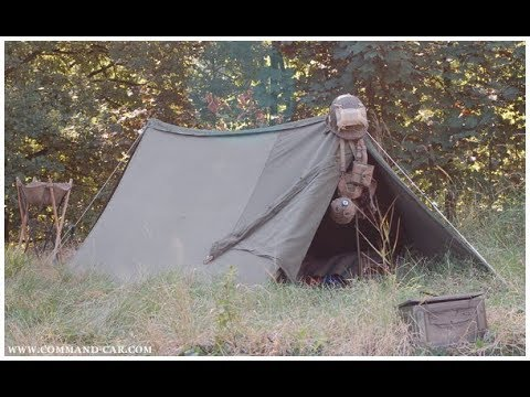 Modified U S  Army Shelter half   tent   camping   bushcraft