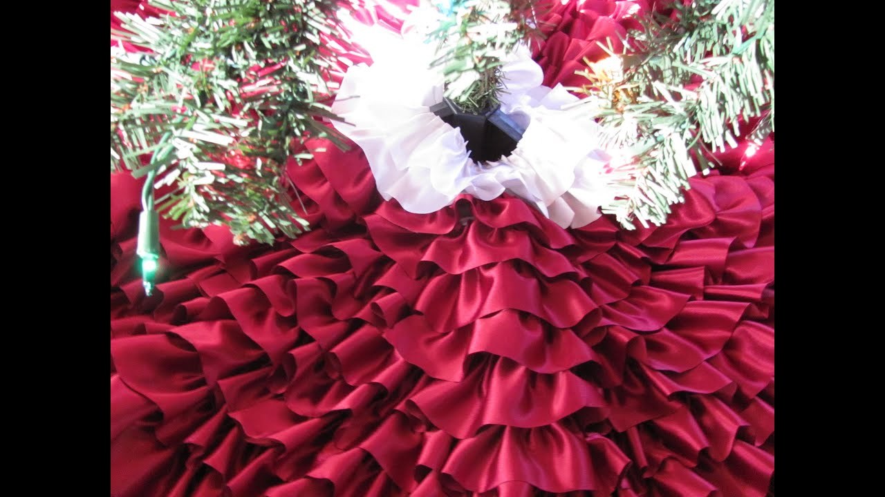 DIY Ruffle Christmas Tree Skirt - YouTube
