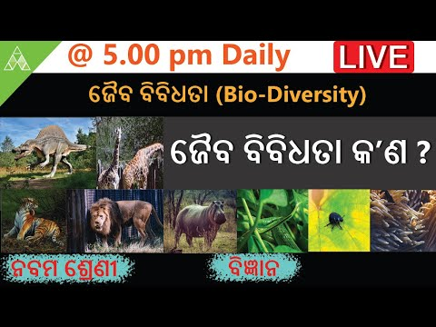 🔴Aveti Live Class-IX|16th Aprilଜୈବ ବିବିଧତା(Bio-Diversity)କ'ଣ ?|Class-9