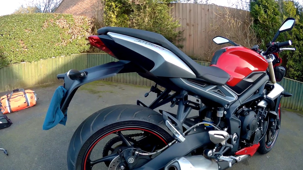 2016 Triumph Street Triple Touring Accessories Youtube