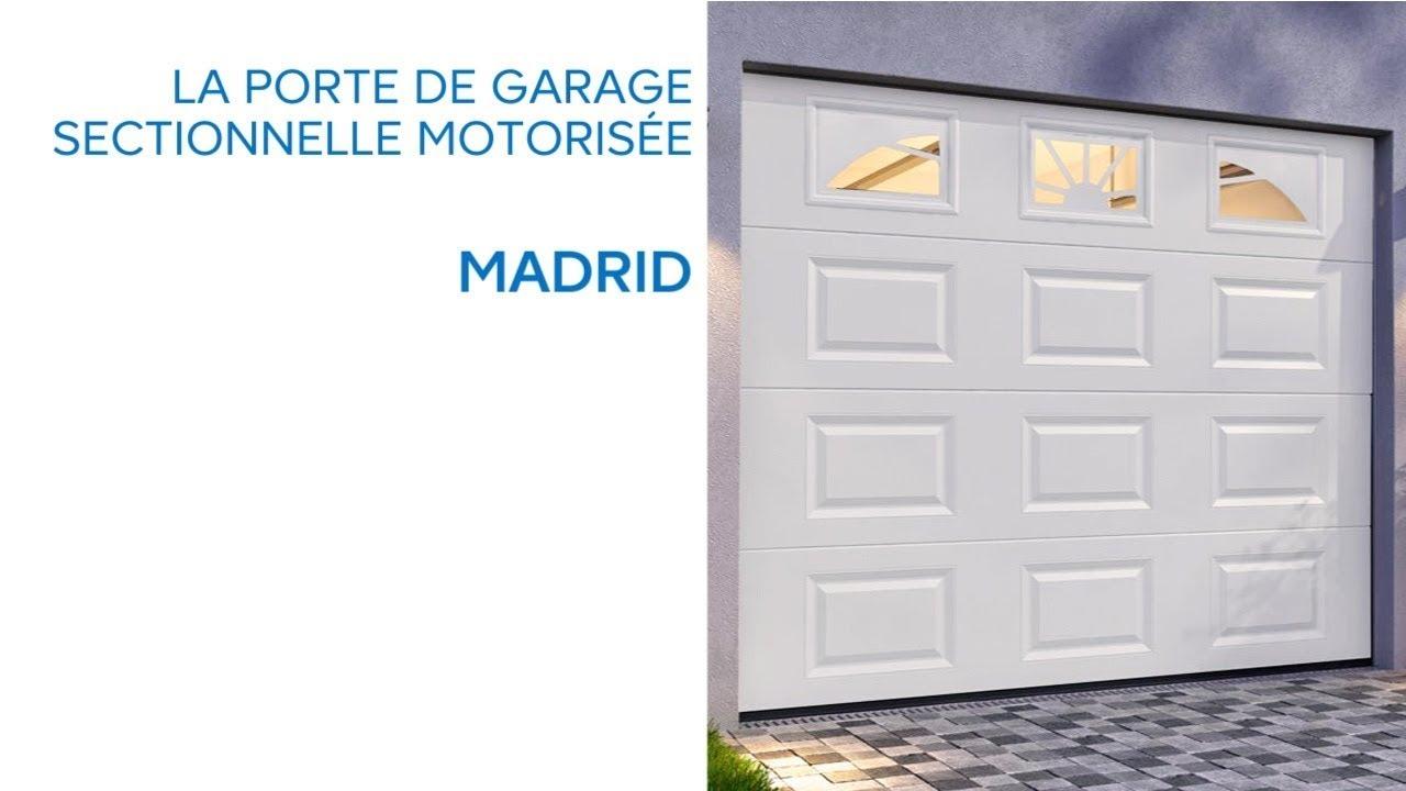 Porte De Garage Sectionnelle Avec Hublots Madrid Castorama Youtube