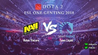 Natus Vincere (NaVi) vs Team Liquid | bo3 | ESL One Genting 2018 by @Tekcac