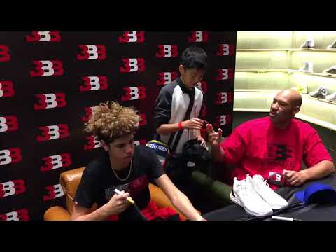 LaVar & LaMelo Ball signing autographs & taking pictures in Shanghai