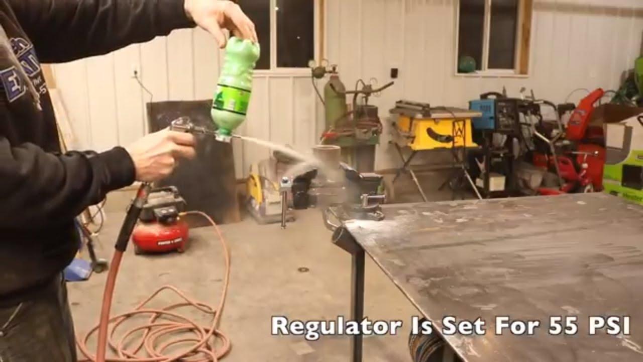 DIY sandblaster - YouTube