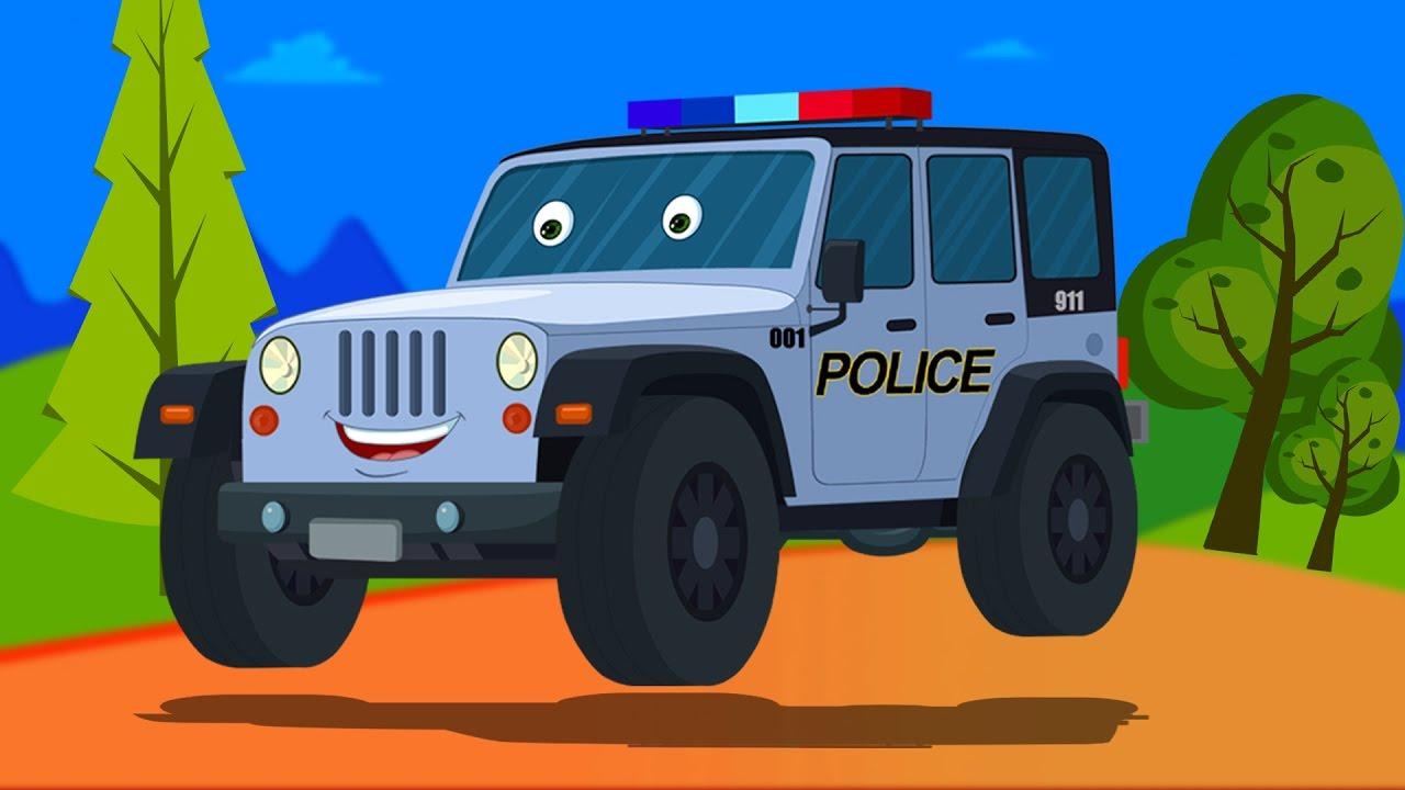polizei jeep bildung und verwendungen kinder video. Black Bedroom Furniture Sets. Home Design Ideas