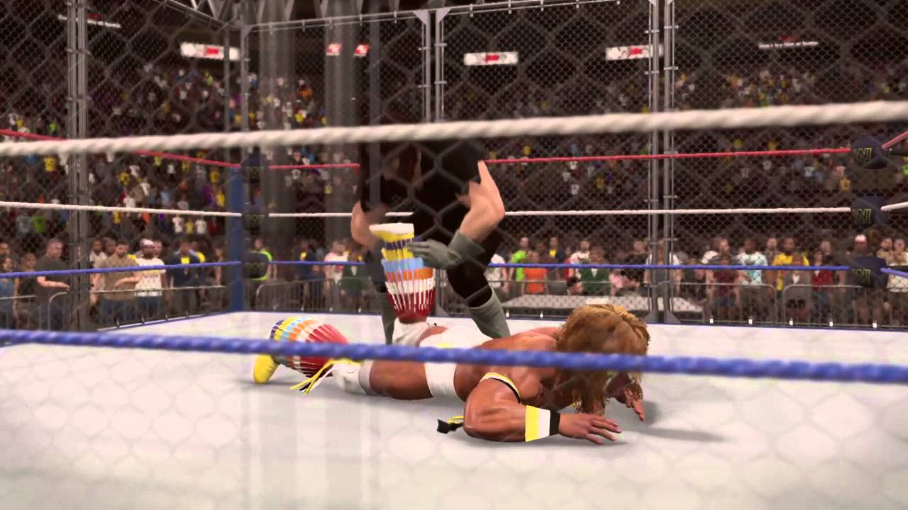 WWE 2K15 Undertaker VS Ultimate Warrior Steel Cage - YouTube
