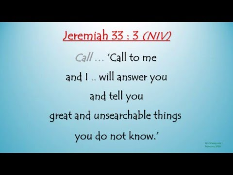 Jeremiah 33 : 3 - Call to me and I will answer you (Scripture Memory Song)