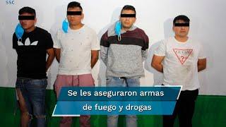 Investigaciones de la policía capitalina lograron identificar a los sujetos quienes estaban encargados presuntamente de la venta al menudeo de drogas, así como extorsiones a comerciantes