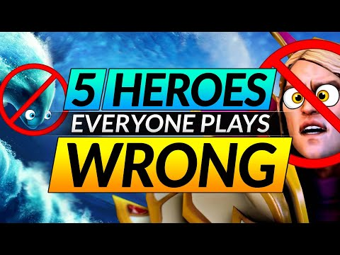 Top 5 Heroes EVERYONE Plays WRONG - HARD Heroes That ACTUALLY CARRY - Dota 2 Drafting Tips Guide