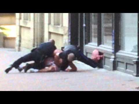 Drunk man taken down by police in Halifax N.S.