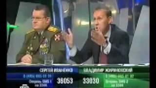 """Как генерал напал на Жириновского в эфире программы Соловьева """"К барьеру!"""""""