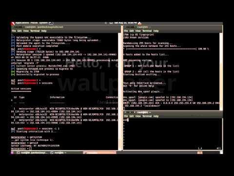 RAT SET Metasploit Windows 7 hacking DNS Spoofing