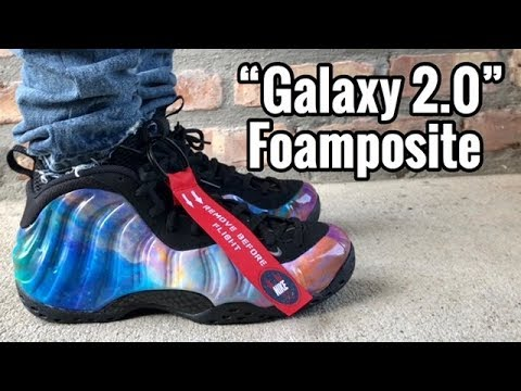 "san francisco 06290 1fd7b Nike Foamposite One ""Galaxy 2.0"" ""Big Bang"" on feet"