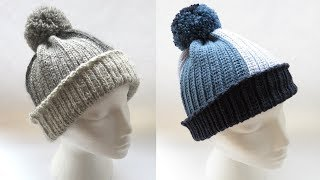 As promised here is my crochet Knit Stitch tutorial! This hat is made with a normal crochet hook, and is suitable for all ages as it is completely customisable! Pom Pom tutorial: https://youtu.be...