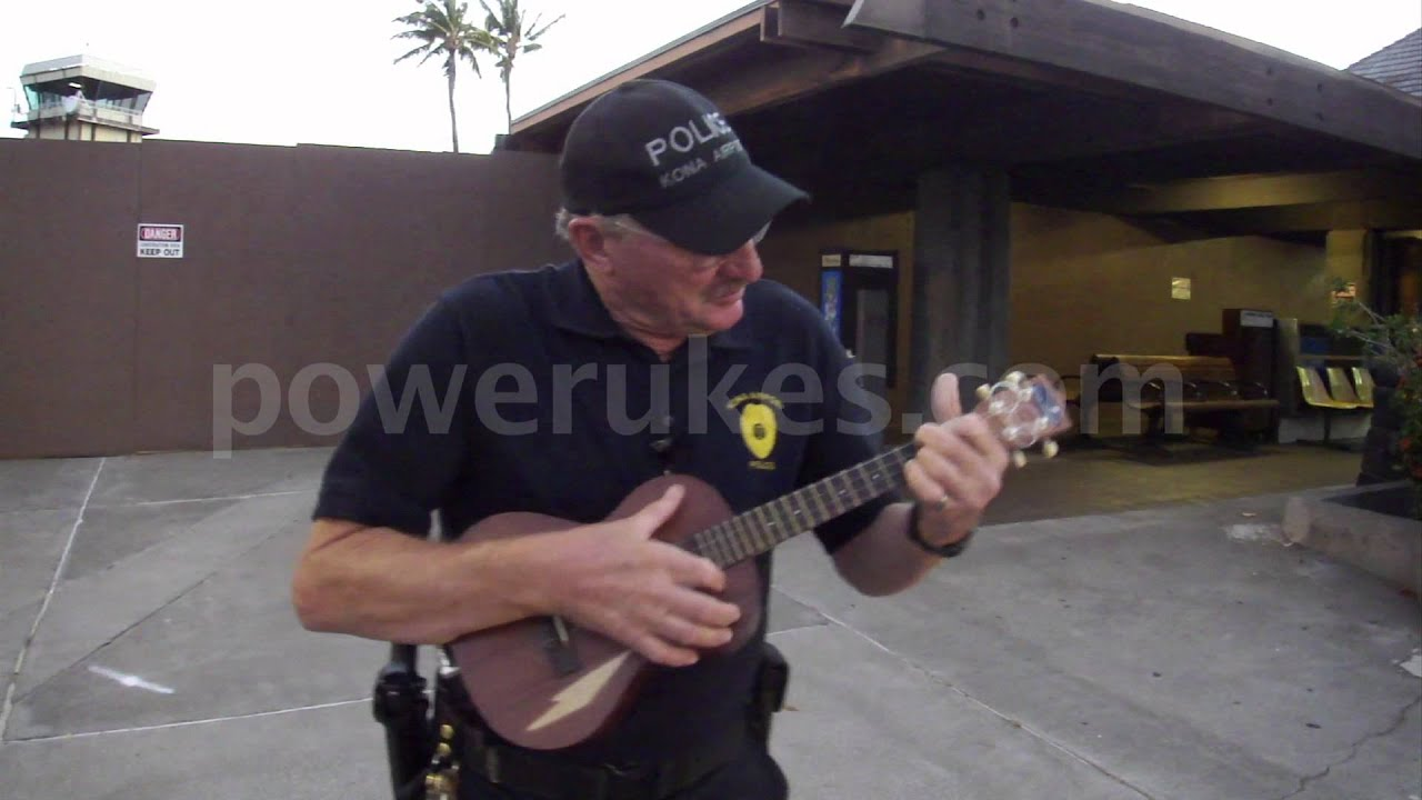 Power Ukulele Jamming at Kona Airport