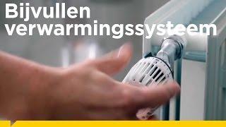 Hoe vul je een verwarmingssysteem bij?