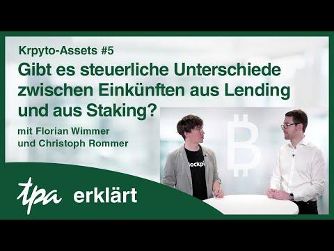 Krypto-Assets #5: Steuerliche Unterschiede zwischen Einkünften aus Lending & aus Staking?