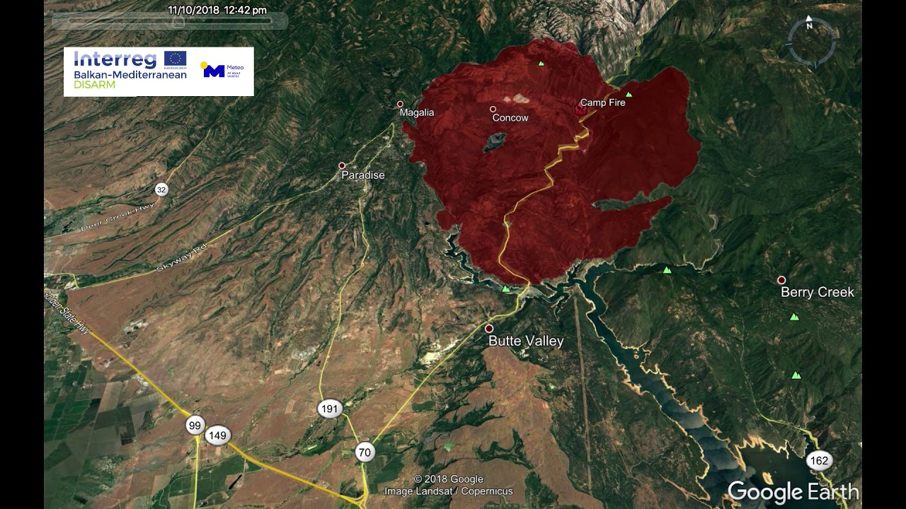 Camp Fire Map Paradise Ca.Deadly Wildfires In California The Camp Fire Youtube