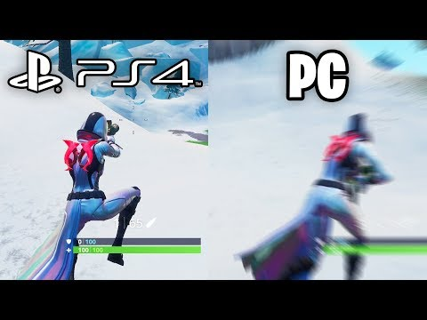 What It Feels Like To Play On Console VS PC - Fortnite Platform Frame Rate Comparison
