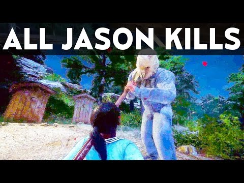 Friday The 13th Game ALL JASON VOORHEES KILLS COMPILATION (FULL JASON GAMEPLAY)