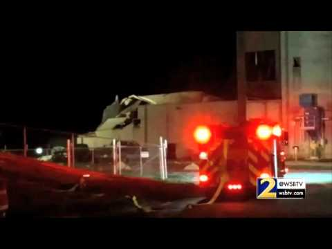 RAW VIDEO: Scene of the Rockmart explosion
