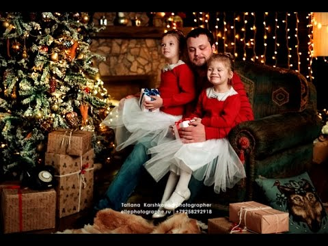 Family Christmas Photoshoot. Ideas For Professional Photo