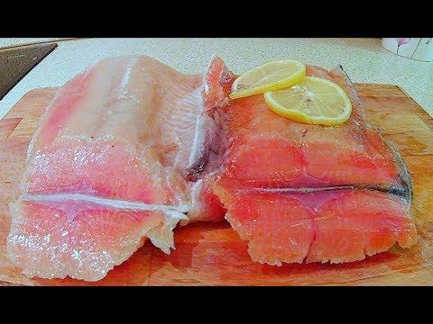 Два способа засолки красной рыбы -  сухой и мокрый.