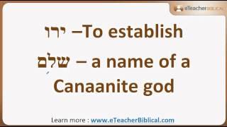 What is Shalom? | Biblical Hebrew Q&A by eTeacherBiblical.com