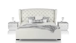 Transitional Beige Eco - Leather Bed Set - Vgknn5028-beige